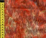 Batik Wellen orange braun